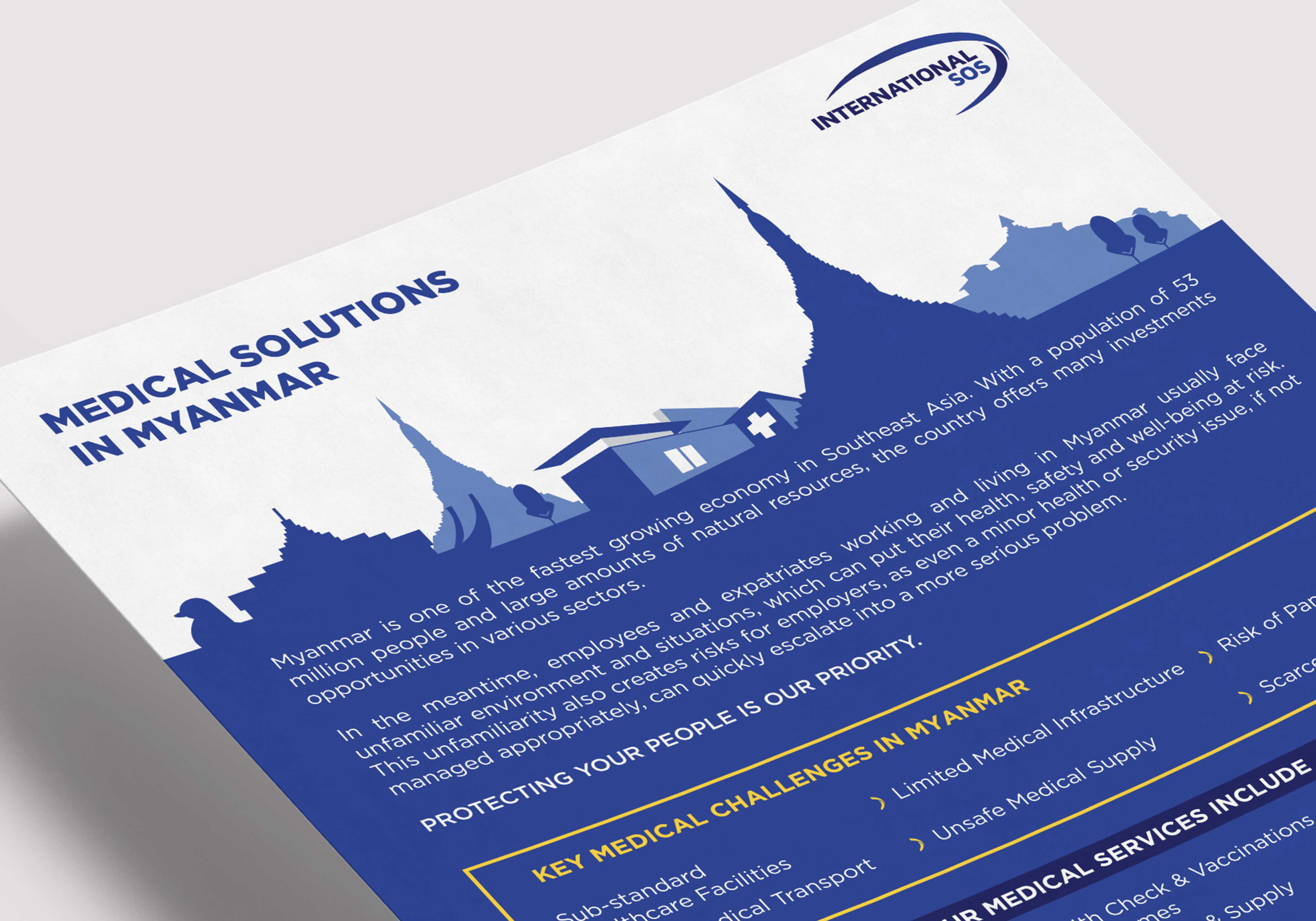 graphisme brochure sos international myanmar